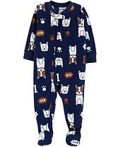 Пижама-человечек флисовый на мальчика 4-5 лет  Собачка Carter's (США)