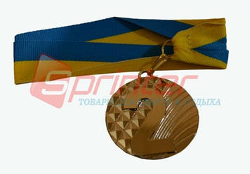 Медаль наградная с лентой, d - 5 см.(ромб) 2 место 5200-11