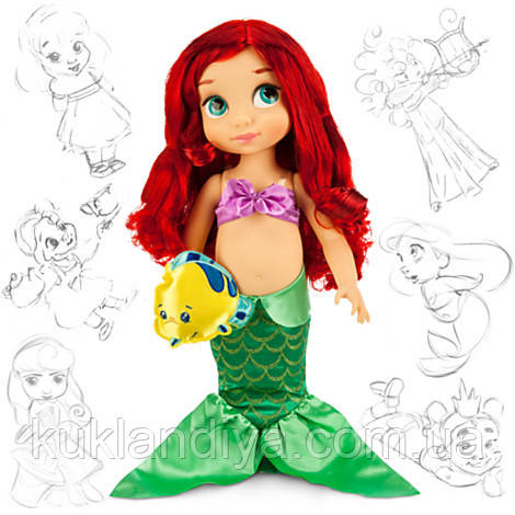 Кукла Русалочка Ариель Аниматор Дисней - Disney Animators' Collection Ariel