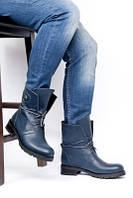 Ботинки кожанные зимние синие. Турция Украина