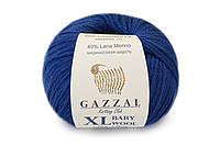 Gazzal_XL Baby Wool_Синий №802
