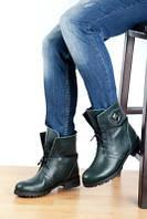 Ботинки кожанные зимние зеленые. Турция Украина
