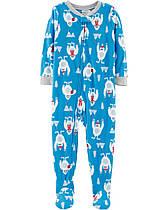 Пижама-человечек флисовый на мальчика 2-3-4  года  Снежный монстрик Carter's (США)
