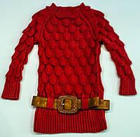 Вязаный свитерок для девочки на 7-9 лет, фото 1