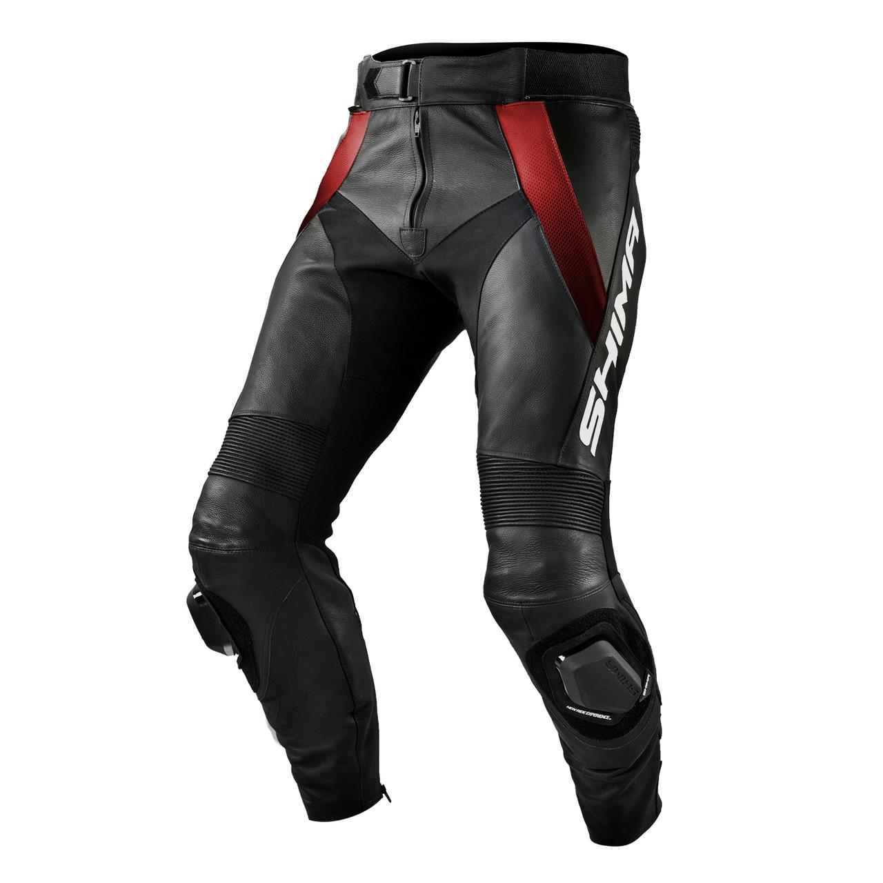 Шкіряні штани SHIMA STR Black/Red