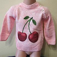 Кофта  вязанная для девочки 1-3 года. Опт