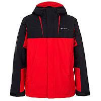 Мужская лыжная куртка Columbia TUMALO FALLS INSULATED JACKET красно-черная  1819841-696 94cf63d514e27
