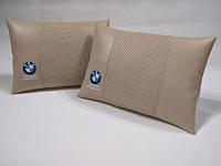 Подушка ортопедическая в автомобиль BMW бежевая