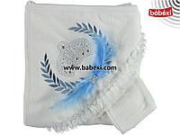 Полотенце - уголок для новорожденных с короной