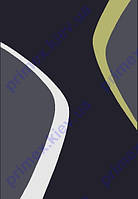 """Коврик Флорида """"Полосы абстракция"""", цвет черный с зеленым Купить ковер Киев недорого"""