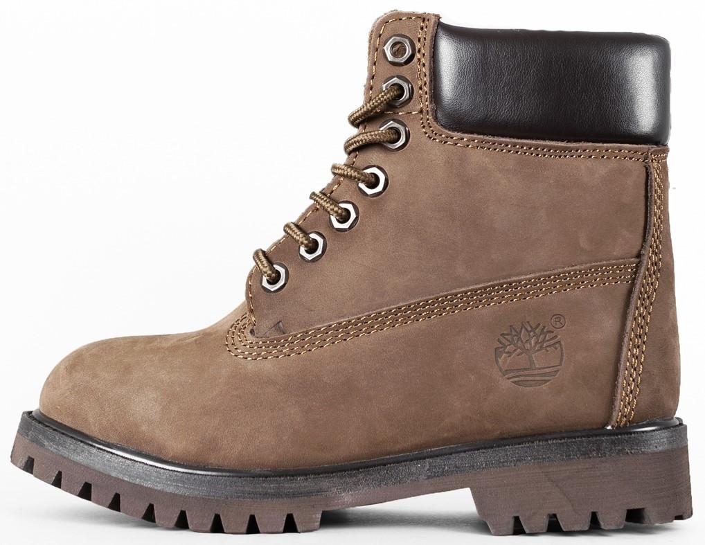 "Женские зимние ботинки Timberland ""Brown"" (в стиле Тимберленд)"