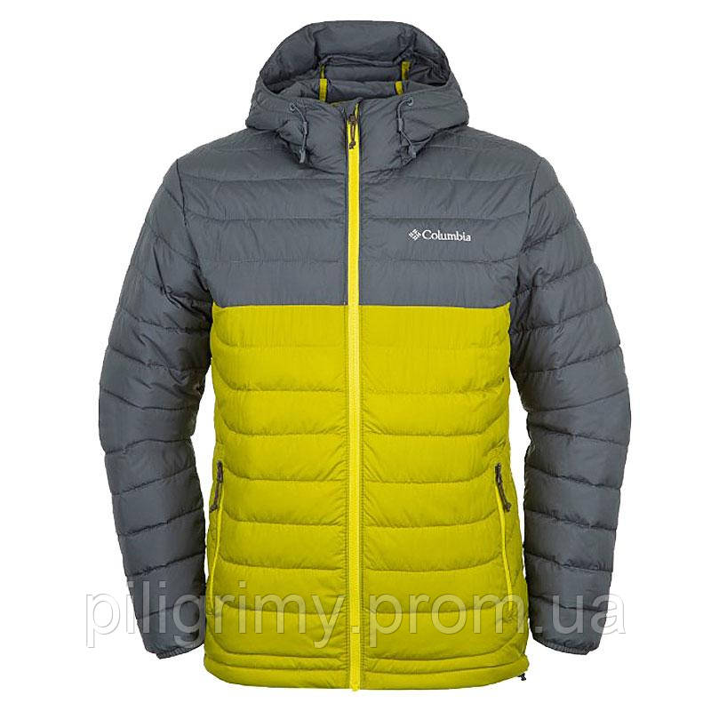 Мужская куртка Columbia POWDER LITE™ HOODED JACKET серо-зеленая 1693931-390  XL 4eb2f5771aa