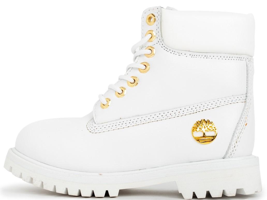 "Женские зимние ботинки Timberland ""White"" (в стиле Тимберленд)"