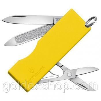 Нож Складной Мультитул Викторинокс Victorinox TOMO (58мм, 5 функций), желтый 0.6201.А2