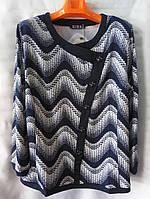 Блуза с пуговицами женская батальная (L-I-D-A)