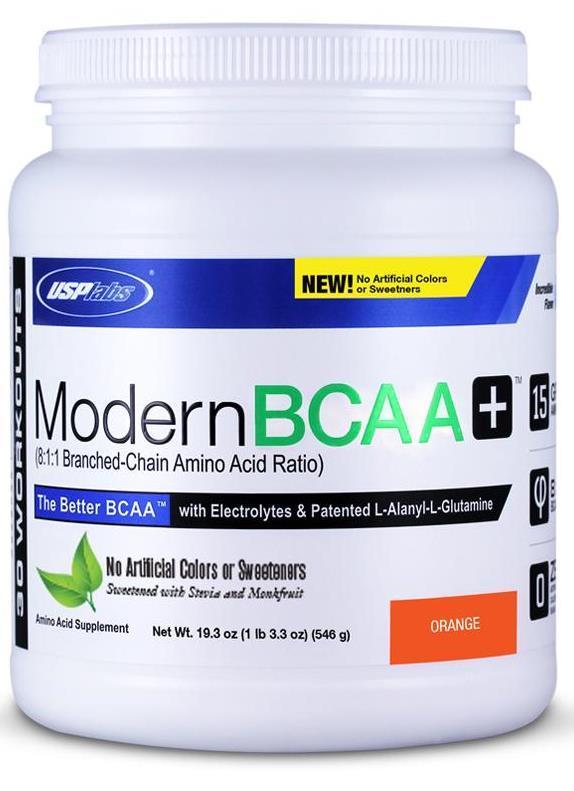 BCAA USP Labs Modern BCAA + with stevia 546 g orange, Юсп Модерн БЦАА