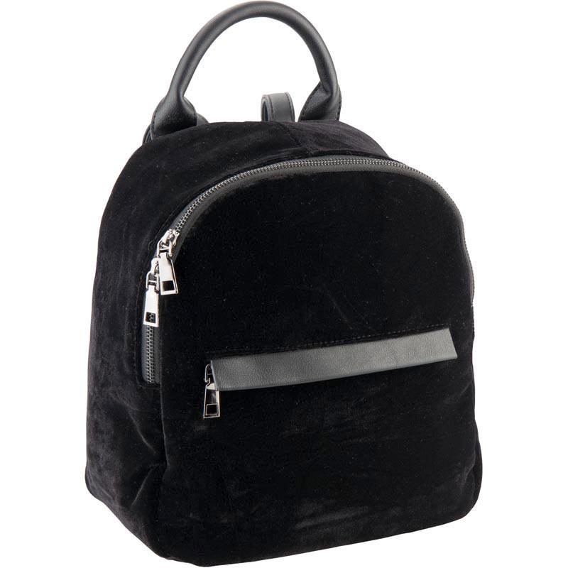 12f9c522cb35 Небольшой женский рюкзак Kite Fashion из черного велюра - это невероятно  приятный на ощупь аксессуар, который эффектно выделит свою в еще→ладелицу в  толпе.