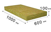 Минеральная вата Tizol Евро-Фасад Универсал 130 грамм - 1000 мм × 600 мм × 100 мм (Теплоизоляция)