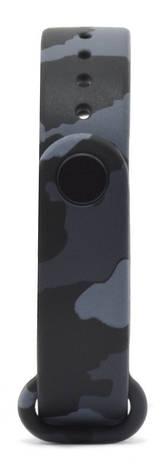 Ремінець для Xiaomi Mi Band 3 Силікон Камуфляж Сірий, фото 2