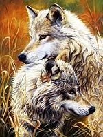 """Набор алмазной вышивки (мозаики) """"Волки. Любовь и верность"""""""
