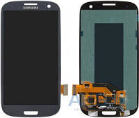 Дисплей (экраны) для телефона Samsung Galaxy S3 I747, Galaxy S3 I9300, Galaxy S3 I9305, Galaxy S3 R530 + Touchscreen Original Blue