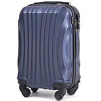 Микро пластиковый чемодан Wings 159 на 4 колесах синий, фото 1