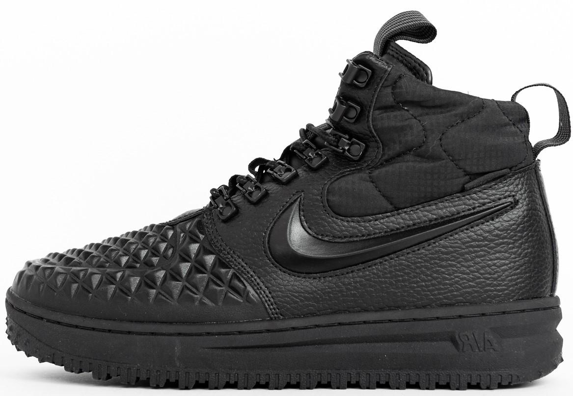 "Мужские зимние кроссовки Nike Lunar Force 1 Duckboot 17 ""Black"" (в стиле Найк) термо"