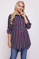 d18b4780a438db0 Рубашка большого размера Стиль сердечки, женская рубашка для офиса, сорочка  жіноча великого розміру