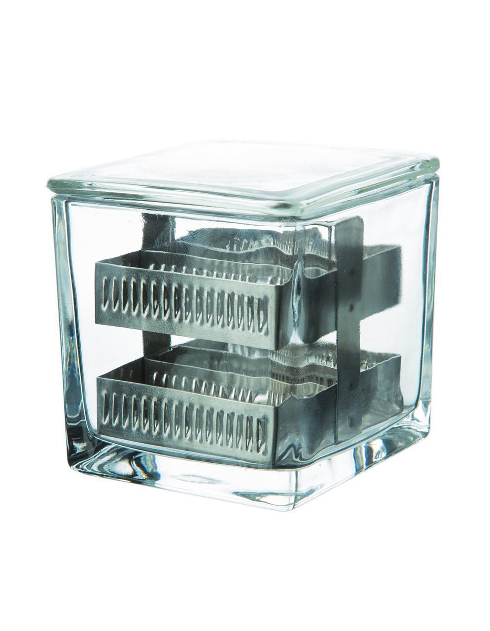 Емкость для окраски препартов стеклянная   75*68*85 мм,  на 30 стекол 12001402