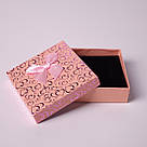 "Подарочная коробочка ""Сердечки с бантом персиковый 9 х 9 х 2,5 см"" для набора , фото 4"