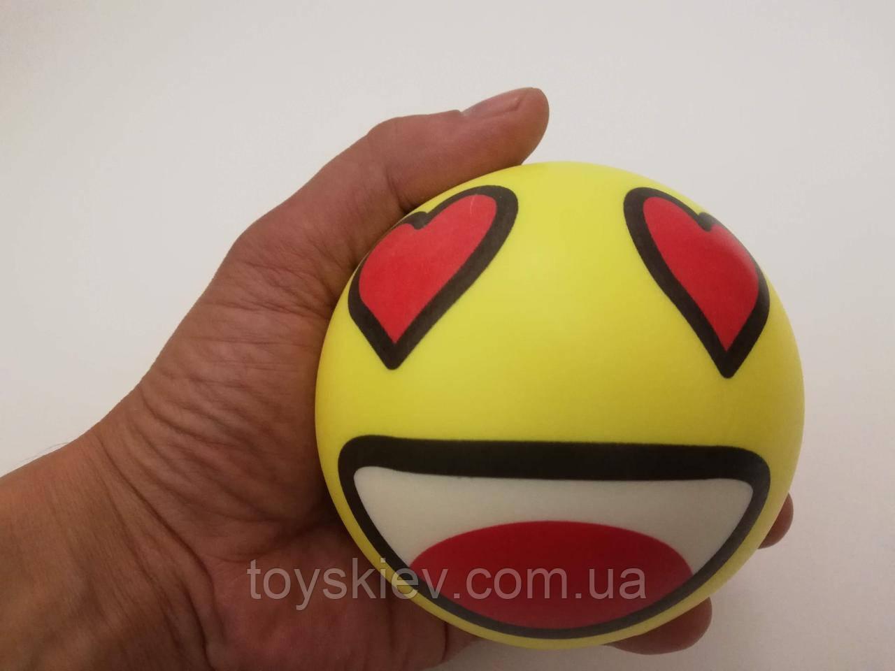Сквиши SQUISHY Смайлик-4 Сквиш Антистресс игрушка большая 10*10см.