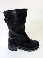 Женские кожаные зимние полусапожки ТМ Lonza, фото 1