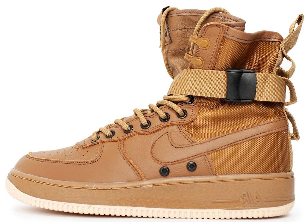 """Мужские кроссовки в стиле Nike Special Field Air Force 1 """"Brown"""" ( в стиле Найк )"""