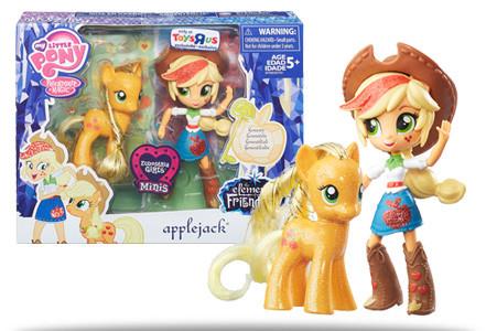 Набор My Little Pony Эпл Джек куколка и пони Elements of Friendship Applejack Pony and Doll