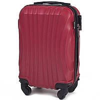 Микро пластиковый чемодан Wings 159 на 4 колесах красный, фото 1