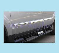"""Боковые пороги """"S010"""" Hyundai Santa Fe, пластик (06-12)"""