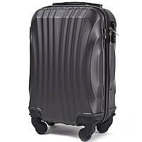 Микро пластиковый чемодан Wings 159 на 4 колесах серый, фото 1