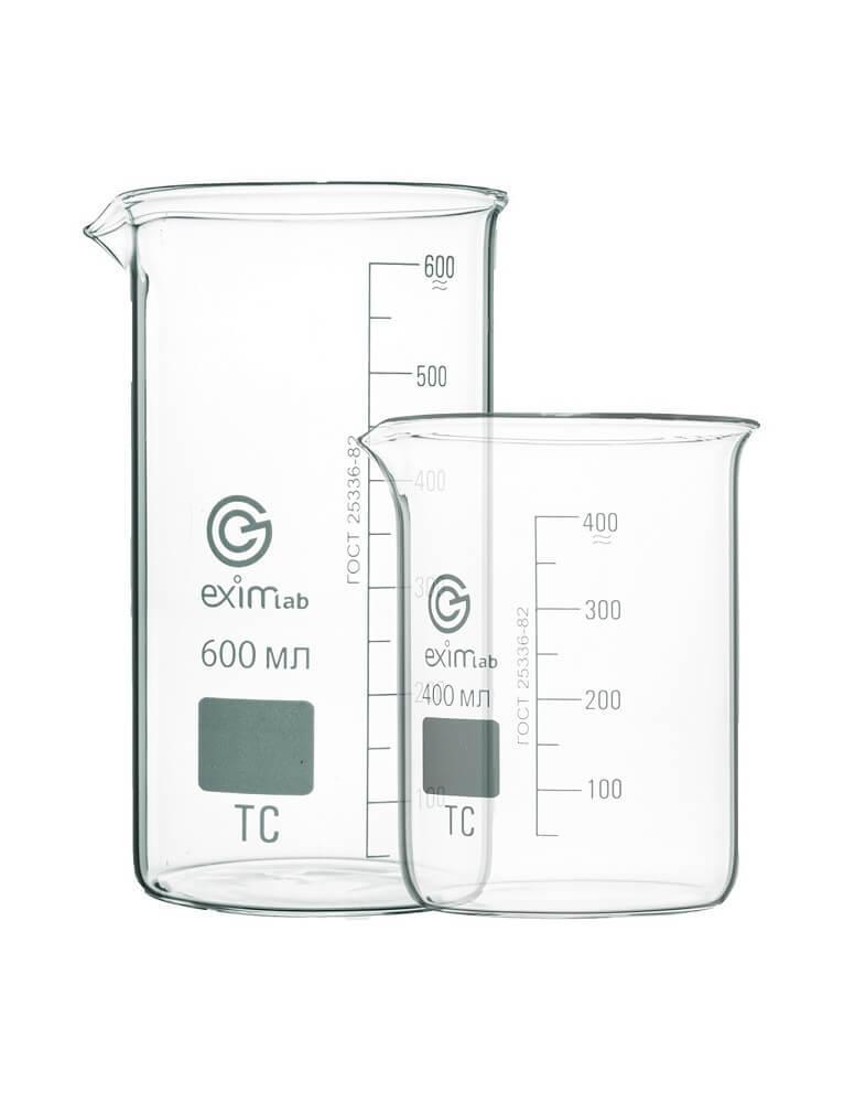 Стакан лабораторный, с делениями и носиком высокий ТС  В-1-250 ТС  10003803