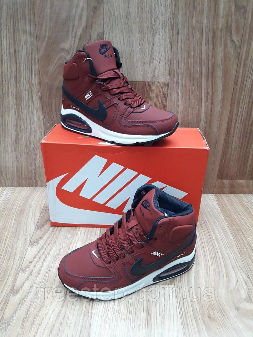 Зимние женские кроссовки в стиле Nike Air Max 90, натур. мех, кожа ... 53e17e9b33f