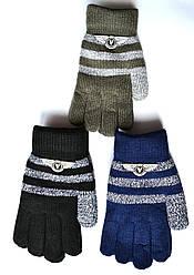 Детские шерстяные перчатки для мальчиков - длина 17 см