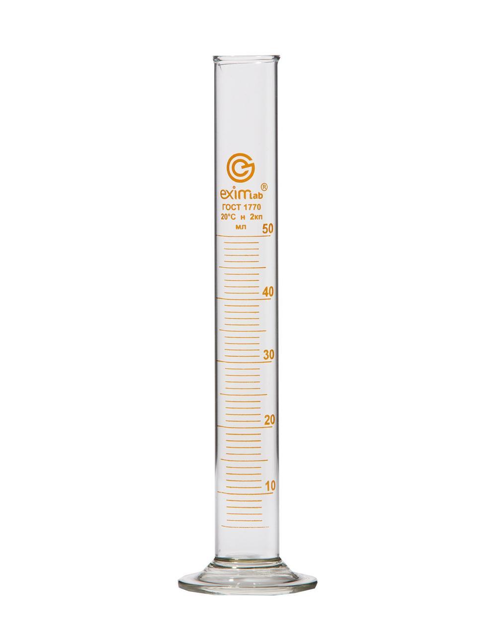 Цилиндр мерный на стеклянном основании, с пришлифованной пробкой   2-100-2