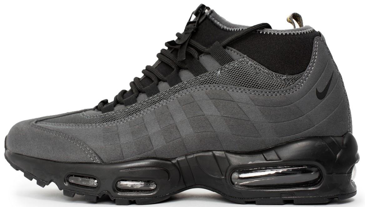 """Мужские зимние кроссовки Nike Air Max 95 Sneakerboot """"Gray"""" (в стиле Найк)"""