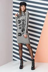 Вязаное теплое платье - Ульяна