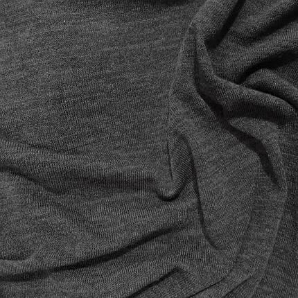 Трикотаж ангора арктика меланж темно-серый, фото 2