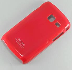 Чехол пластиковый SGP Ultra Thin на Samsung Galaxy Y Duos S6102 Малиновый