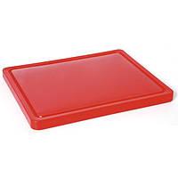 Доска кухонная CMP Red красная со стоком 40х30 см h2 см пластик (ST40302Red)