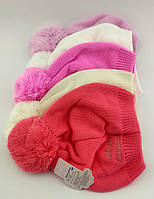 Оптом вязаные шапки с 48 по 52 размер тонкие головные уборы детские вязаная шапка детская опт, фото 1