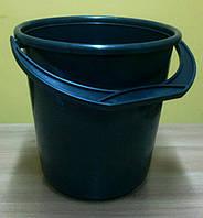 Ведро черное пластмассовое 10 л