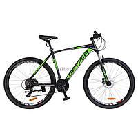 "Велосипед Optimabikes 26"" F-1 2018 AM 14G HDD рама-19"" Al черно-зеленый (OPS-OP-26-129)"