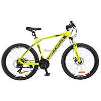 "Велосипед Optimabikes 26"" F-1 2018 AM 14G HDD рама-19"" Al желтый неон (OPS-OP-26-131)"